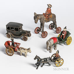 Five Cast Iron Toys