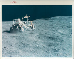 Apollo 16, Lunar Roving Vehicle in the Grand Prix Run, Driven by John Young.