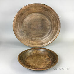 Two Large Treen Dishes