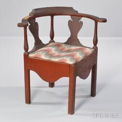 Red-painted Cherry Roundabout Chamber Chair