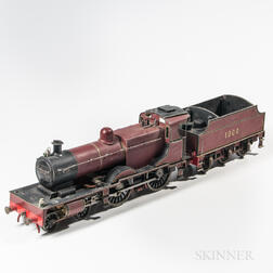 English Stationary 4-4-0 Locomotive and Tender