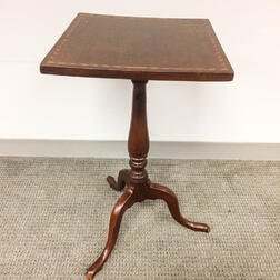 Queen Anne-style Inlaid Cherry Candlestand