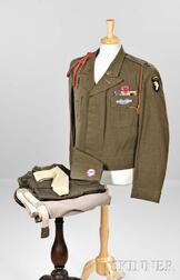 Eisenhower Jacket, Cap, Trousers, and Shirts Owned by Captain S. Scrivener, 101st Airborne Division
