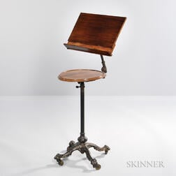 Victorian Mahogany and Cast Iron Music Stand