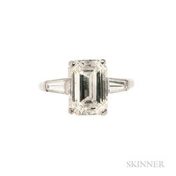Platinum and Fracture-filled Diamond Solitaire