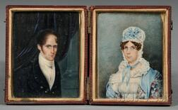 Portrait Miniatures of John Parker Rice and His Wife, Sally Crowninshield Rice