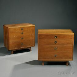 Dunbar: Two Chests, Two Side Tables, and a Headboard
