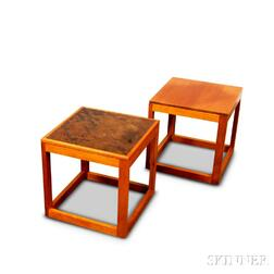 Two Charles Webb Cube Tables