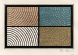 Sol LeWitt (American, 1928-2007)      Arcs from Four Corners