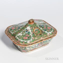Famille Rose Export Porcelain Covered Dish