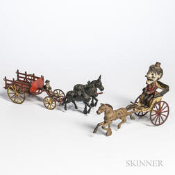 Two Cast Iron Pull Toys