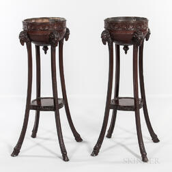 Pair of Georgian-style Mahogany Plant Stands