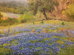 Porfirio Salinas (American, 1910-1973)      Fields of Bluebonnets