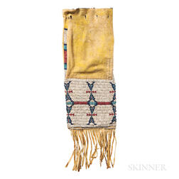 Cheyenne Beaded Hide Pipe Bag