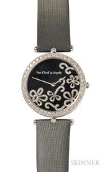 "18kt White Gold and Diamond ""Lady Arpels Dentelle"" Wristwatch, Van Cleef & Arpels"