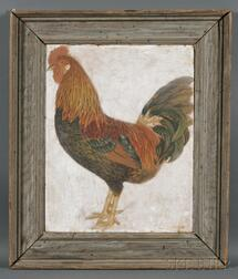 American School, Early 20th Century      Portrait of a Fancy-feathered Rooster.