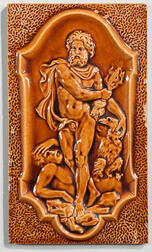 American Encaustic Tiling Co. Art Pottery Tile of a Classical Figure