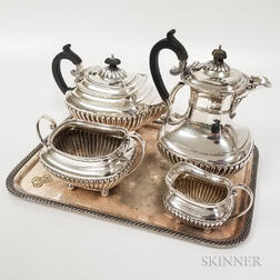 Five-piece Silver-plated Tea Set