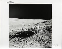 Apollo 16, On Moon, John Young Replaces Tools.