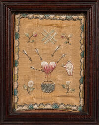 18th Century Needlework Love Token