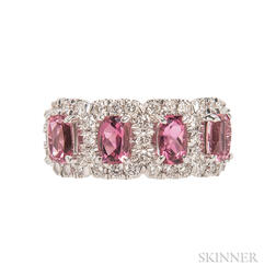 18kt Gold, Pink Tourmaline, and Diamond Ring