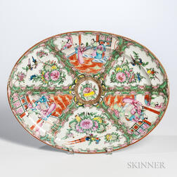 Rose Medallion Export Porcelain Platter