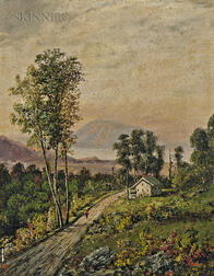 Henry Boese (American, 1824-1863)      Two Hudson River Landscapes: Scene near the Juniata