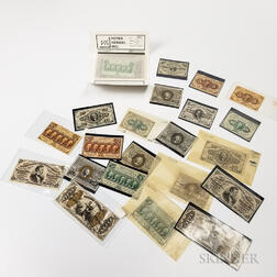 Twenty-three Mostly Uncirculated Fractional Currency Notes