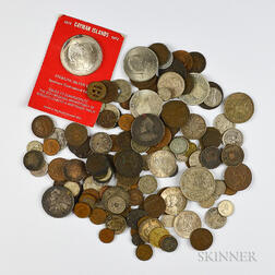 Small Group of World Coins and Currency
