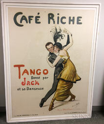 Georges Redon (French, 1869-1943)      Poster for Tango Performance at Café Riche