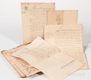 France, Legal and Genealogical Documents.
