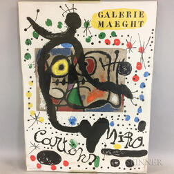 Joan Miró (Spanish, 1893-1983) Galerie Maeght Color Lithograph