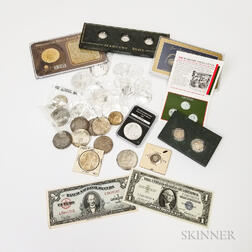 Group of American Coins and Promotional Material