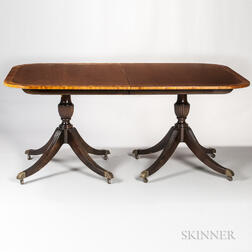 Georgian-style Mahogany and Mahogany-veneered Dining Table