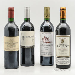 2000 Bordeaux Lot, 4 bottles