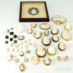 Group of Mostly Cameo Jewelry