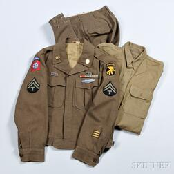 Eisenhower Jacket, Pants and Shirt Owned by Lieutenant Gus Sanders, and Later Tech 5 Wyatt