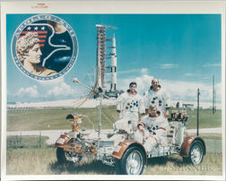 Apollo 17, Prime Crew with Lunar Roving Vehicle, September 1972.