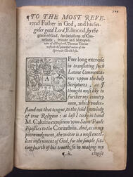 Calvin, Jean (1509-1564) A Commentarie upon S. Paules Epistles to the Corinthians.