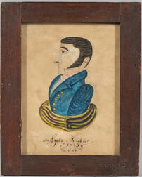 American School, Early 19th Century      Portrait of a Gentleman