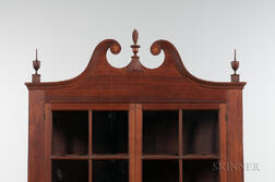 Inlaid Walnut Corner Cupboard