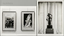 Minor White (American, 1908-1976)      Three Photographs of Artwork on Display in the Home of James Sibley Watson, Rochester, New York