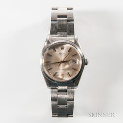 Rolex Oysterdate Precision Stainless Steel Wristwatch