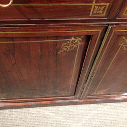William IV Mahogany-veneered Brass-inlaid Secretary Bookcase