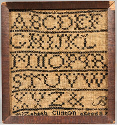 "Small ""Elizabeth Clinton"" Needlework Sampler"