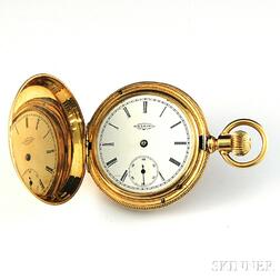 Elgin 14kt Gold Hunting Case Pocket Watch