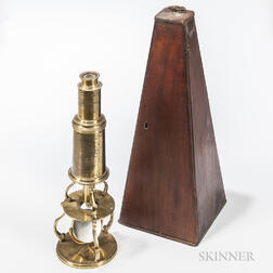 Lacquered Brass Culpeper-type Microscope