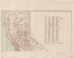 California, General Land Office State and Territory Map.