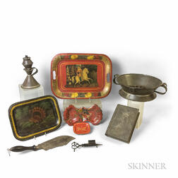 Small Group of Early Tin Items