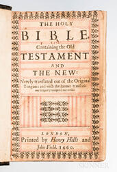 Bible, English. The Holy Bible, Containing the Old Testament and the New.